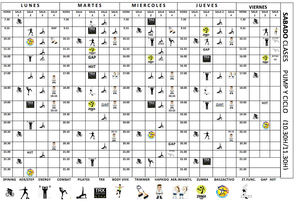 energy calendario de clases