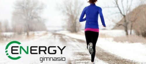 Abrigarse para hacer ejercicio en invierno.