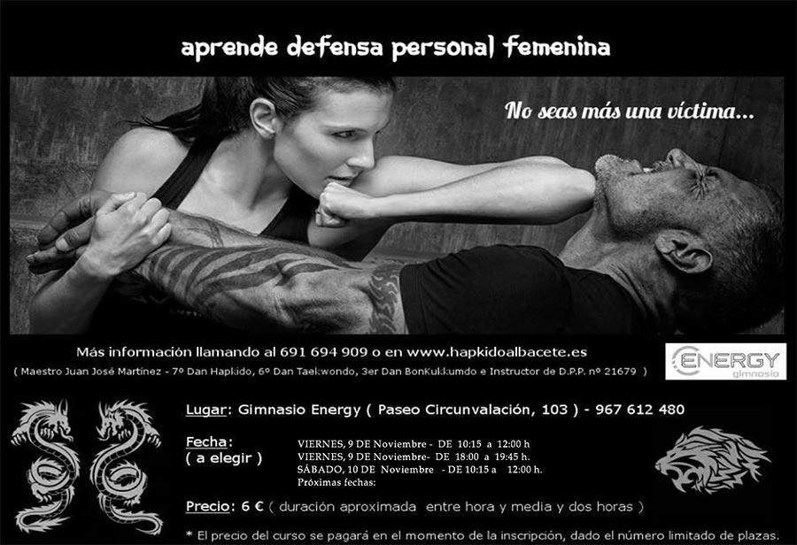 curso defensa personal energy albacete